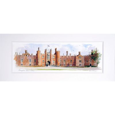 Hampton Court Palace watercolour landscape print