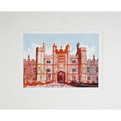 "Illustrated Hampton Court Palace print 12""x10"""