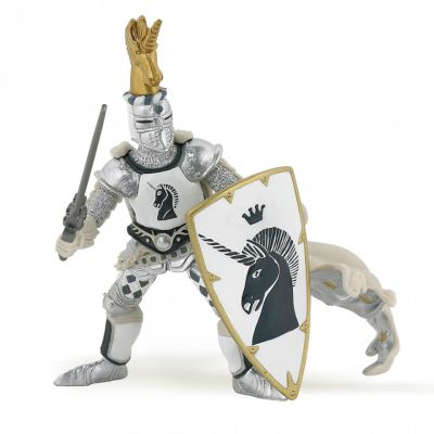 Papo UK White unicorn knight model toy