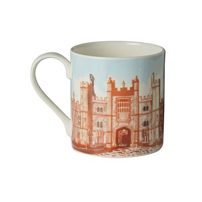 Illustrated Hampton Court Palace fine bone china mug