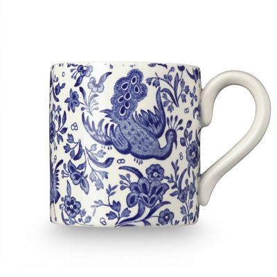 Blue Regal Peacock earthenware mug