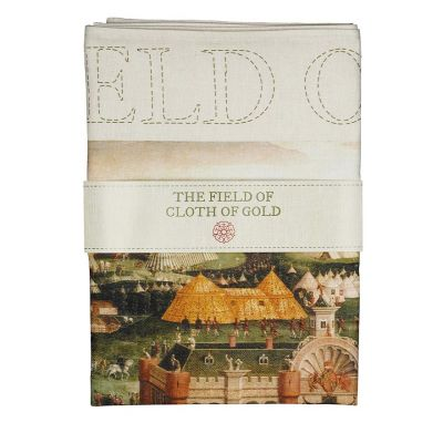 Field of the Cloth of Gold painting tea towel folded