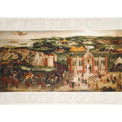 Field of the Cloth of Gold painting tea towel