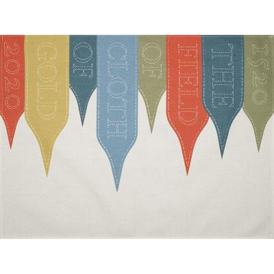 Field of the Cloth of Gold Flags Tea Towel Open
