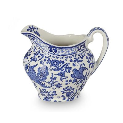 Blue Regal Peacock earthenware cream jug