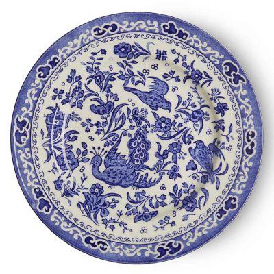 Blue Regal Peacock earthenware plate 17cm