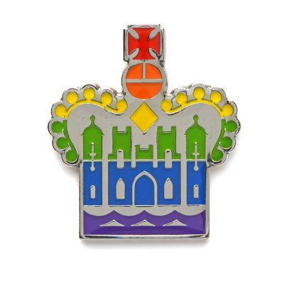 Historic Royal Palaces crown pride pin badge