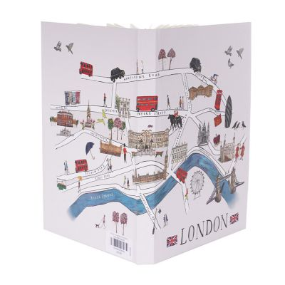 London map A5 notebook open