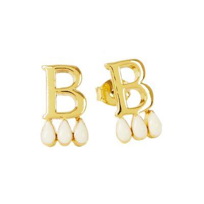 Anne Boleyn 'B' initial stud earrings