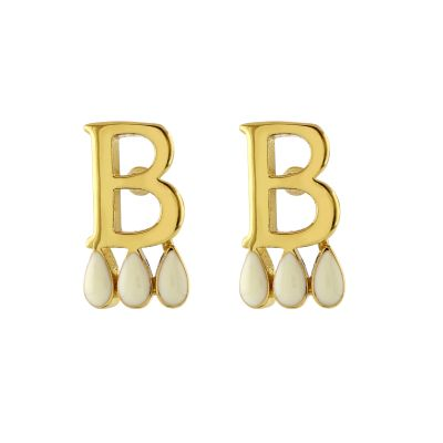 Anne Boleyn 'B' initial stud earrings