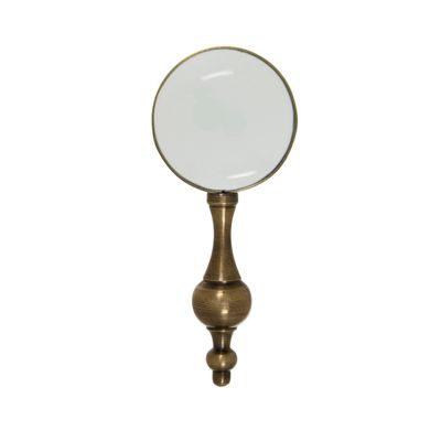 Antique Victorian style brass small magnifying glass