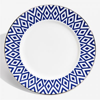 "The Aragon Collection midnight blue fine bone china 10"" plate"