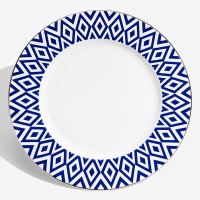 "The Aragon Collection midnight blue fine bone china 13"" charger plate"