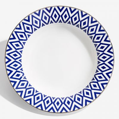 """The Aragon Collection midnight blue fine bone china 9"""" soup plate"""