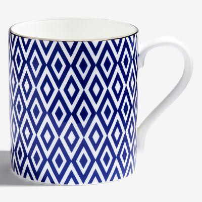 The Aragon Collection midnight blue fine bone china mug