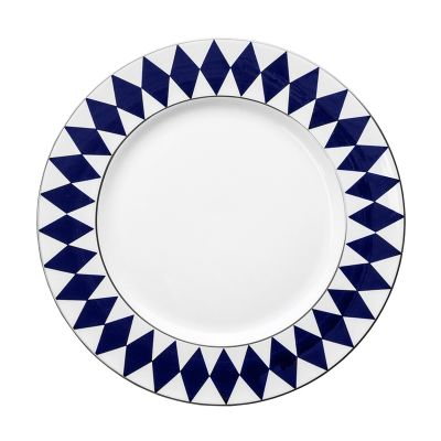 "Parterre midnight blue 13"" fine bone china charger plate"