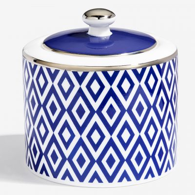 The Aragon Collection midnight blue fine bone china sugar pot