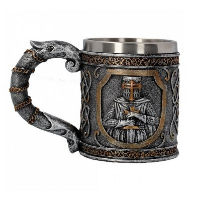 Medieval armoured knight tankard
