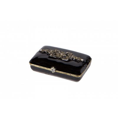 Black jewelled trinket box