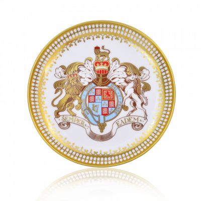 Royal Palace Crest fine bone china bonbon dish