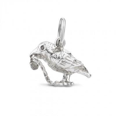 Silver Raven charm