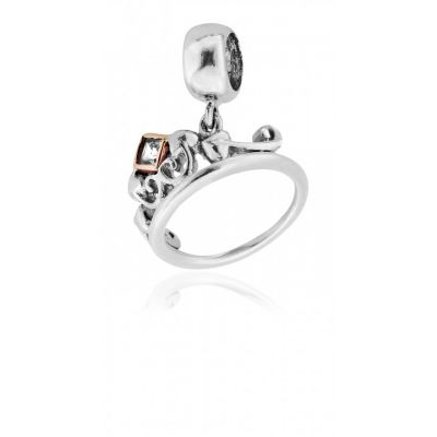 Clogau Princess collection - Tiara silver and rose gold charm
