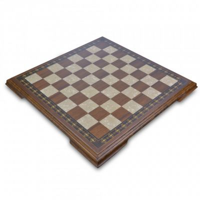 50cm brown and white chessboard with legs
