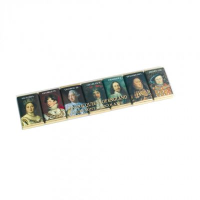 Kings and Queens of England portrait chocolates