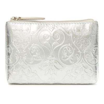 Royal Victoria silver metallic leather coin purse