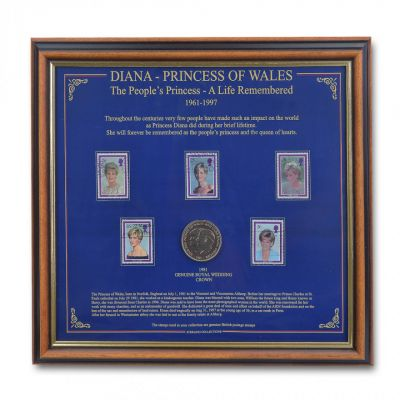 Princess Diana commemorative coin and stamp collection