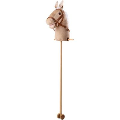 Traditional wooden cord hobby horse toy