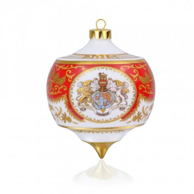 Royal Palace Crest fine bone china bauble