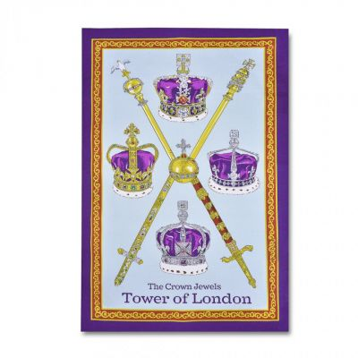 Crown Jewels tea towel