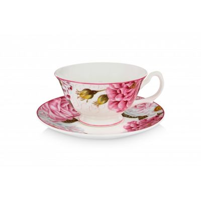 Royal Palace Rose fine bone china cup and saucer