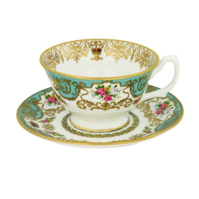 Royal Palace Collection fine English bone china teacup and saucer