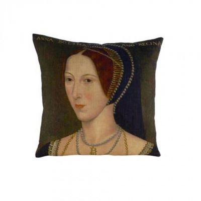 Anne Boleyn portrait cushion 43cm x 43cm