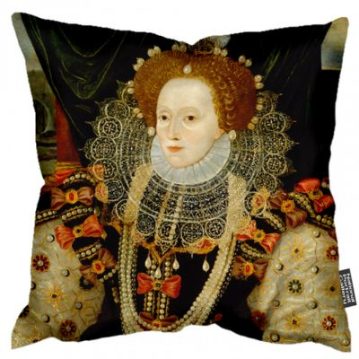 Queen Elizabeth I portrait cushion 45cm x 45cm
