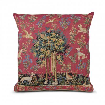 Flemish Tapestries Tree and animal tapestry cushion
