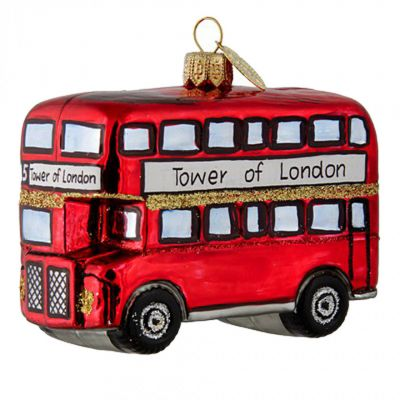 Brink London bus glass tree decoration