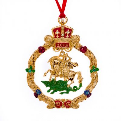 Crowns and Regalia 2015 dated Christmas decoration ?�??�??? George and the dragon