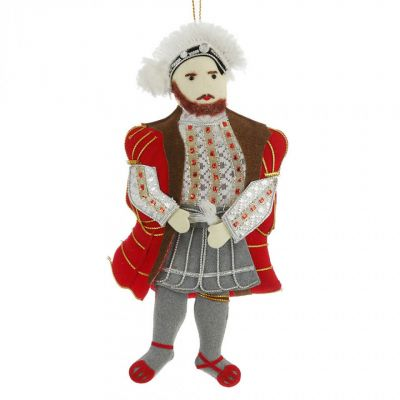 St Nicolas collectable Henry VIII luxury hand embroidered character christmas tree decoration