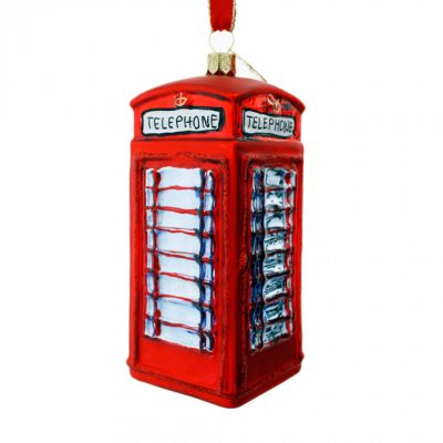 Brink London telephone box glass tree decoration