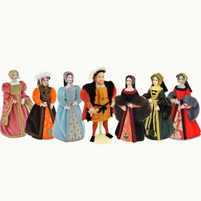 Henry VIII and his six wives dolls