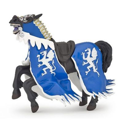 Papo UK Blue dragon horse model toy