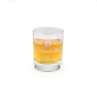 'Drink Like A Queen' fine crystal shot glass