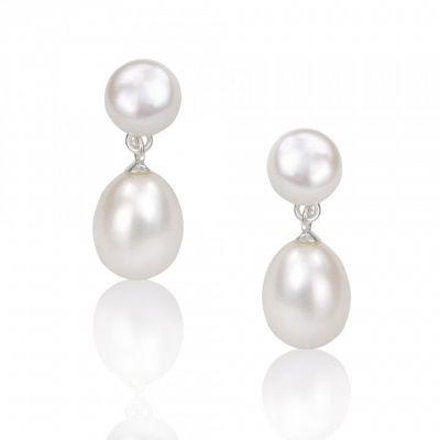 White Pearl Drop Earring