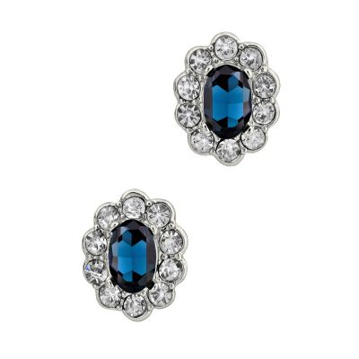 Faux sapphire earrings