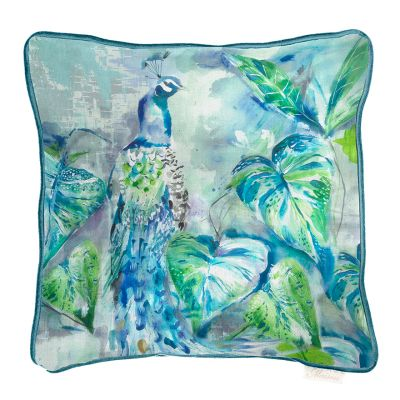 Luxury ebba peacock square cushion