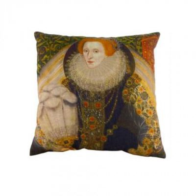 Queen Elizabeth I portrait cushion 43cm x 43cm