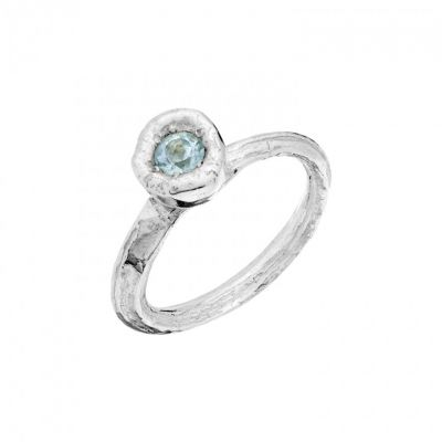 Angelica ring with blue topaz